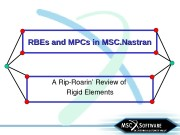 RBEs and MPCs in MSC. Nastran ARipRoarin'Reviewof RigidElements