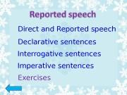 Презентация reported speech 5 -6 класс