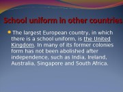 School uniform in other countries