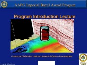 Program Introduction Lecture Created by: