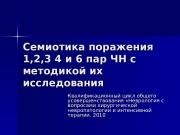 Презентация Семиотика поражения 123 4 и 6 пар ЧН