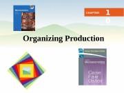 Business Microeconomics Instructor: Gulnara Moldasheva 1 Organizing Production