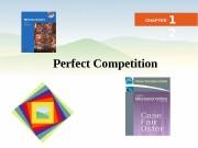 Business Microeconomics Instructor: Gulnara Moldasheva 1 Perfect Competition