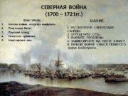 СЕВЕРНАЯ ВОЙНА (1700 – 1721 гг. ) ПЛАН