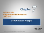 Презентация Сh4 Motivation Concepts