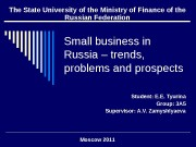 Small business in Russia – trends,  problems