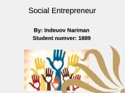 Презентация social entrepreneur1