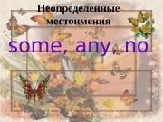 Презентация some any no