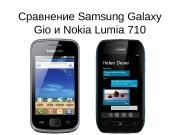Презентация Сравнение Samsung Galaxy Gio и Nokia Lumia 710