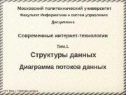 Московский политехнический университет Факультет Информатики и систем управления