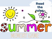 Презентация summer memory game