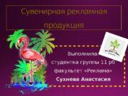 Сувенирная рекламная продукция Выполнила: студентка группы 11 рб