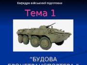 1   Кафедра військової підготовки Тема 1