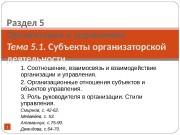 Презентация Т.5.1 Субъекты орган деят
