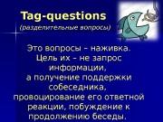 Tag-questions  (разделительные вопросы) Это вопросы – наживка.