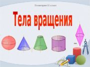 Геометрия 11 класс  Цилиндр Конус. Шар и