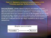 Тема 1. 4. Принципы построения компьютерных сетей.
