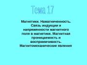 Презентация тема 17