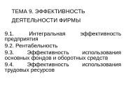 Презентация ТЕМА 9. Эффект. деят.предприятия