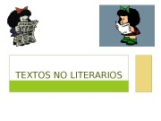 TEXTOS NO LITERARIOS  OBJETIVA SUBJETIVA TEXTOS CIENTÍFICOS