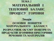 ТЕМА 2    МАТЕРІАЛЬНИЙ  І