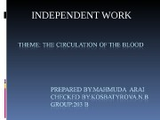 Презентация the ciculation of the blood 2