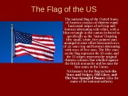 Презентация the flag of the us