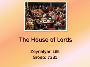 The House of Lords Zeynalyan Lilit Group: 7235