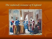 The national costume of England  English folk