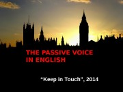 "THE PASSIVE VOICE IN ENGLISH "" Keep in"