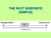 THE PAST INDEFINITE (SIMPLE)   • The
