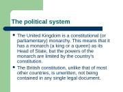 The political system   The United Kingdom