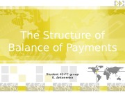 The Structure of Balance of Payments Student 43
