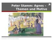 Peter Stamm: Agnes – Themen und Motive