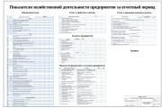 Показатели хозяйственной деятельности предприятия за отчетный период Финансовый