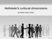 Hofstede's cultural dimensions by Sultan-Aliyev Yeldar  1.