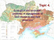 Topic 4.  Ecological and economic problems of