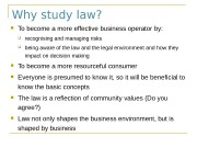 Why study law?  To become a more