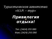 Презентация Туристическое агентство «V