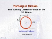 Turning in Circles   The Turning Characteristics