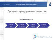 Процесс предпринимательства Svetlana@dit. perm. ru  Отражает суть