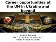 Career opportunities at the UN in Ukraine and