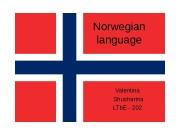 N orwegian  language Valentina  Shusharina LTb.