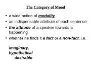 Презентация Веч The Verb 5 Mood ГЭ 34