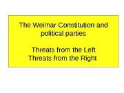 Презентация Weimar Constitution