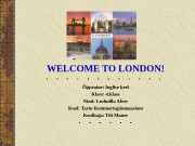 Презентация welcome to london 1