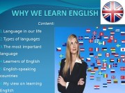 Презентация Why we learn english Trambovetskiy K.N.