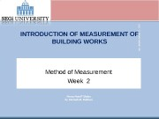 Презентация Wk3 Method of Measurement 1