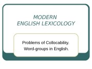 Презентация word-groups