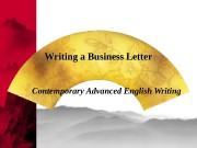 Презентация Writing-Business Letters Plus